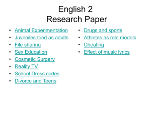 English 2 Research Paper - Liberty Union High School District