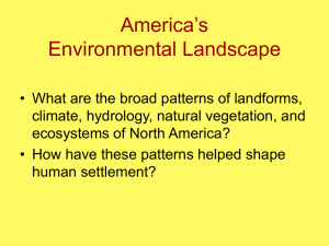 North America's Environmental Landscape