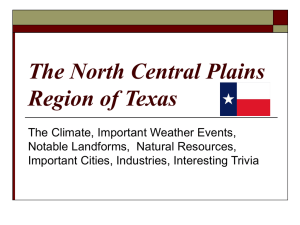 The North Central Plains Region