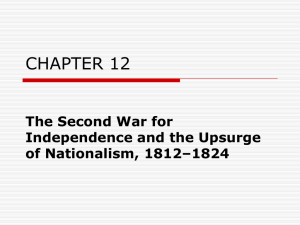 CHAPTER 12 The Second War for Independence and the Upsurge