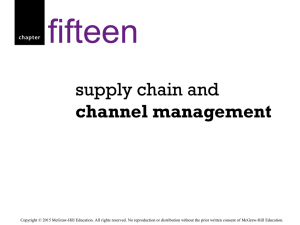 Supply chain management - McGraw Hill Higher Education