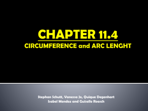 Chapter 11.4 cIRCUMFERENCE AND aRC lENGTH Quique