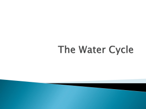 The Water Cycle - ESS415 Task 1B