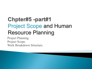 Chpter#5 -part#1 Project Scope and Human Resource Planning