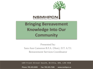 Presentation for Bereavement in LTC