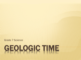 Geologic Time Powerpoint