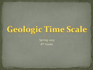 Geologic Time Scale Lecture