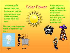 Clare Boone's PowerPoint (Solar Power) 2009