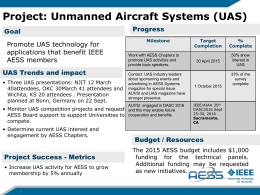 UAV Panel Report to the AESS BoG