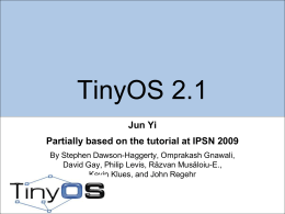 Teaching Assistant's TinyOS Tutorial