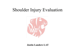Shoulder Injury Evaluation