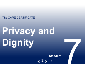 7. Privacy and dignity
