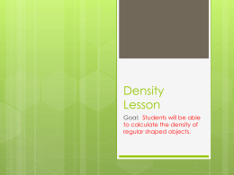 Density power point defintion examples