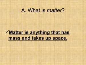 What is matter? - Riverdale Middle School
