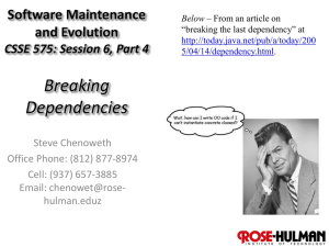Breaking Dependencies - Rose