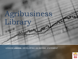 Developing an Income Statement