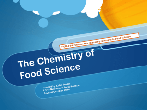 The Chemistry of Food Science
