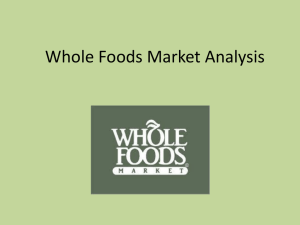 Whole Food SWOT Analysis