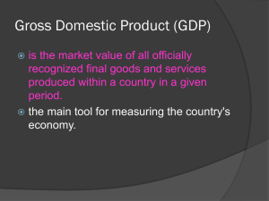 Gross Domestic Product (GDP)