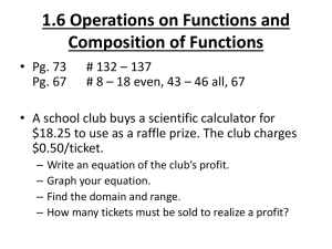 1.6 Operations on Functions and Composition of Functions