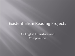 Existentialism Reading Projects