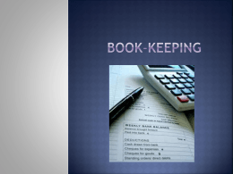 book-keeping ledger account - Resources For JC Business Studies