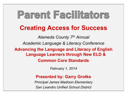 Parent Facilitators - Alameda County Office of Education