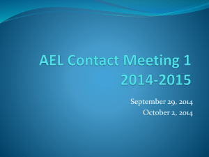 AEL Contact Meeting 1 Powerpoint