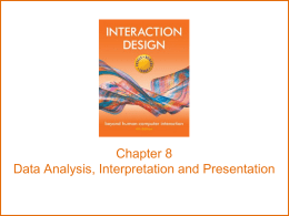 chapter8 - Interaction Design