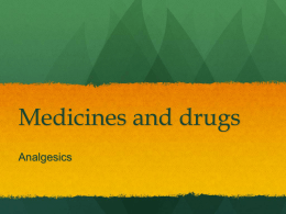 medicines analgesics D3