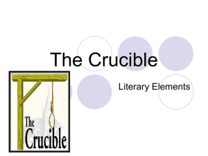 The Crucible Literary Elements