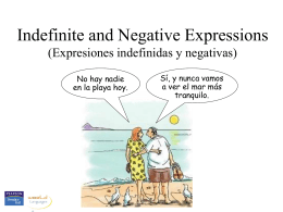 Negative expressions - Gordon State College
