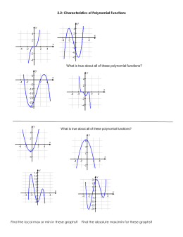 3.2 - Characteristics of Polynomial Functions