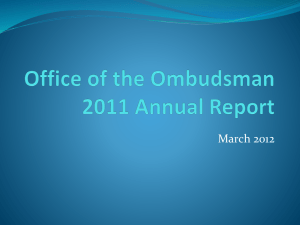 Office of the Ombudsman 2011 Annual Report - CAL