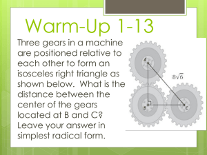 Warm-Up 1/20 - Fort Bend ISD