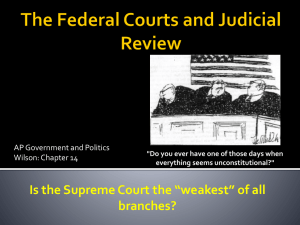 The Federal Courts and Judicial Review