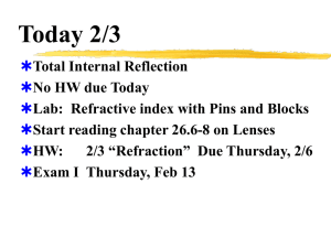 2-3 Refraction and Total Internal Reflection