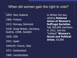 When did women gain the right to vote?