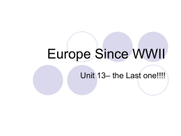 Europe since WWII ppt