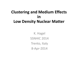 Clustering and Medium Effects in Low Density Nuclear Matter