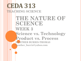 Science and technology wk 3