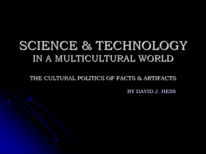 science & technology in a multicultural world the cultural