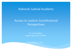 1. Access to Justice