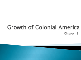 Growth of Colonial America