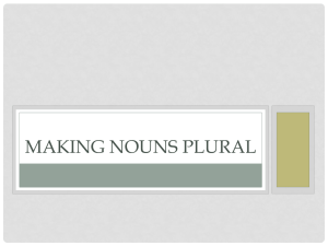 Making nouns plural - San Juan Unified School District
