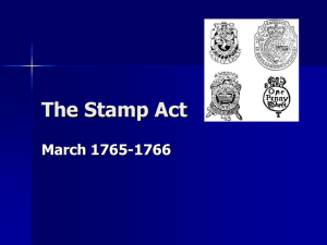 The Stamp Act (1765)