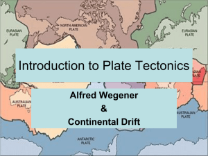 Introduction to Plate Tectonics - EHS