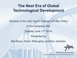 The Next Era of Global Technological Development 2014-01
