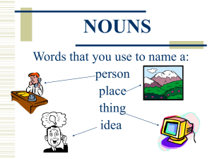 Nouns notes on Powerpoint