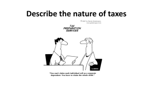 Describe the nature of taxes